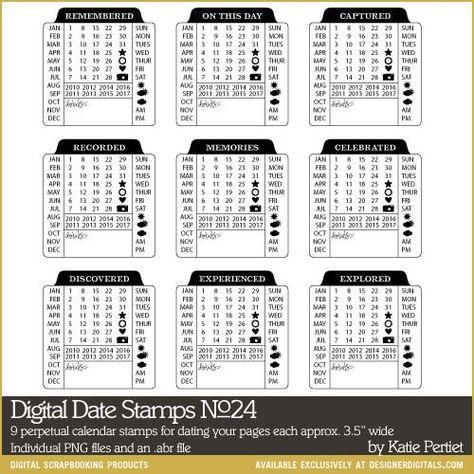Digital Date Stamps Vol 24 Photoshop Brushes Designerdigitals