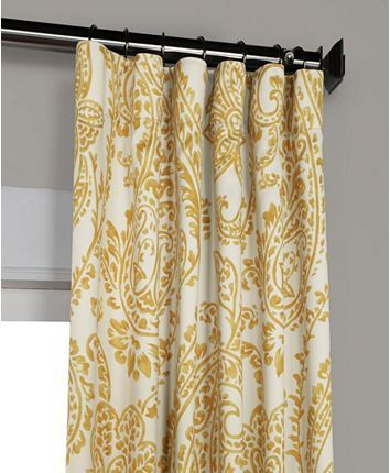 Exclusive Fabrics Furnishings Tea Time Blackout 50 X 108