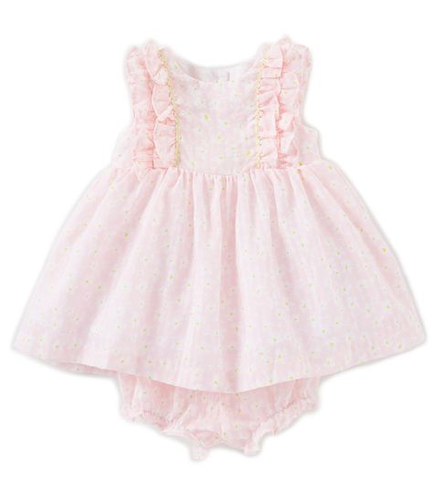 c361efc93 Laura Ashley Baby Girls Newborn-24 Months Double Ruffle-Sleeve Fit-And-