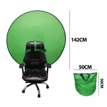 Collapsible Green Screen Background For Chair In 2020 Green Screen Backgrounds Greenscreen Maid Cosplay