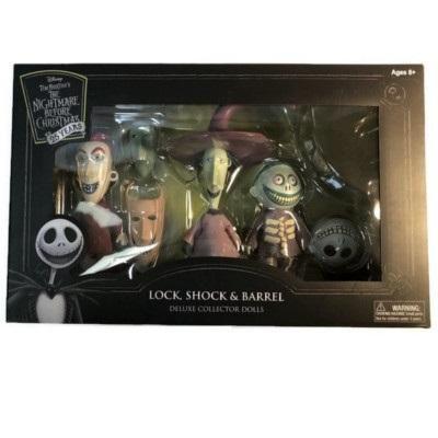 Nightmare Before Christmas Lock Shock /& Barrel Deluxe Cloth Collector Dolls