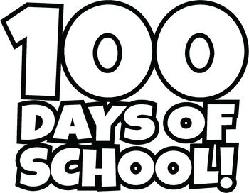Free 100 Days Of School Clipart Happy 100th Day Of School Clip Art 100 Days Of School School Clipart Clip Art