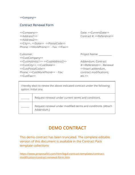 Best Contract Modification Documents Images On