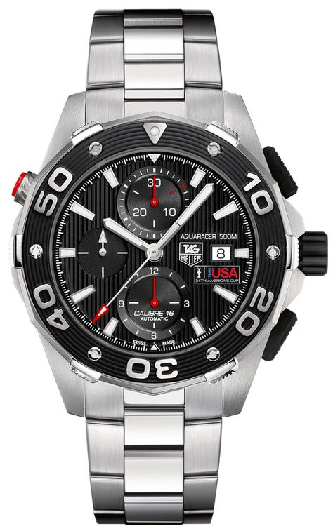 TAG Heuer has partnered Oracle Racing Team USA in the America's Cup, and here are the commemorative Aquaracer watches we knew were coming.