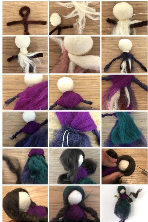 Best 12 Needle Felting Tutorial. Waldorf Fairy Doll Pattern. Felting – SkillOfKing.Com