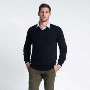 pull col v chemise homme