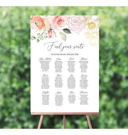Kays Weddings Baby Shower Table Seating Plan Planner Chart 215 DIGITAL WEDDING PLAN Personalised Wedding