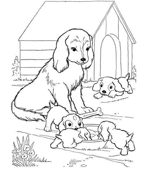 malvorlagen mit einem hund ausmalbilder mit einem hund