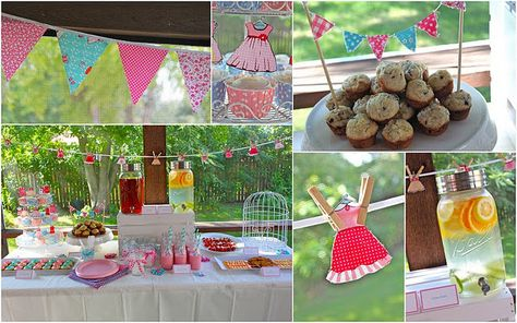 Little girls dress up party! How fun would that be.