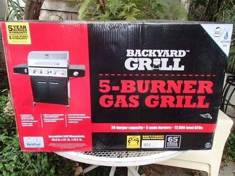 """Splash Magazine reviewed the Backyard Grill 5-burner Grill and dubbed it """"The Stainless Steel King of Summer""""... Check it out! #grillinggear"""