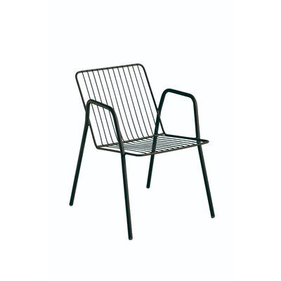 Isimar Niza Stacking Patio Dining Chair Color Black In 2020