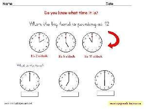 Fichas Infantiles En Inglés El Reloj Fichas Aprender La Hora Worksheets