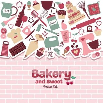 Download Cute Background About The Bakery For Free Cute Backgrounds Free Vector Patterns Dots To Lines