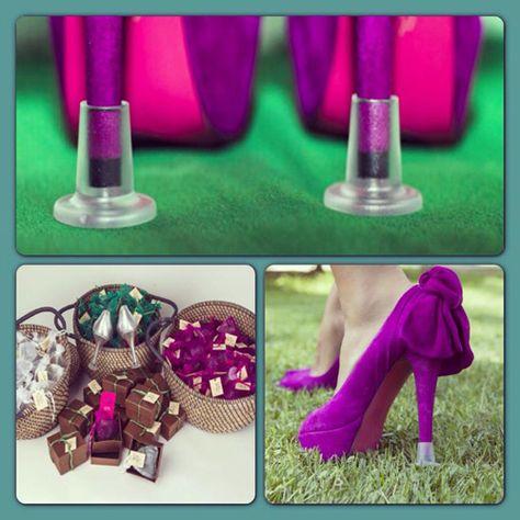 ideas para bodas en jardin   Tapas 'mágicas' para salvar tus tacones. Foto: Llellé