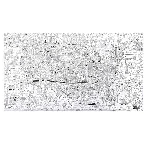 Shop America Giant Coloring Poster. Take a tour of the USA with this ...