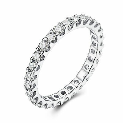 Wedding Band Solid 10k White Gold 1 2ct Cubic Zirconia Gemstone Handmade Ring In 2020 Artisan Jewelry Fine Ring Jewellery And Watches