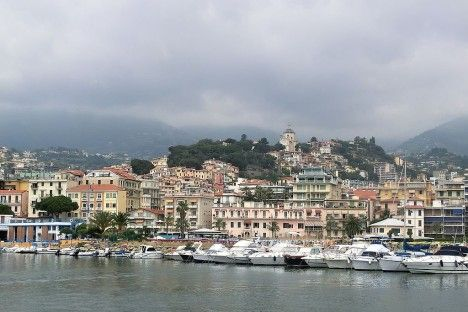 Sanremo as seen from the sea, Liguria