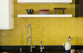 image result for yellow hexagon tile