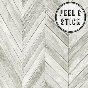 Transform Transform Herringbone Wood Light Grey Vinyl Peelable Roll Covers 30 75 Sq Ft 108327 The Home Depot Herringbone Wood Best Removable Wallpaper Removable Wallpaper