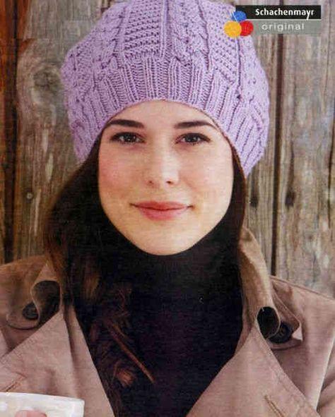 вязание шапки узором коса Knitting вязание Pinterest вязание