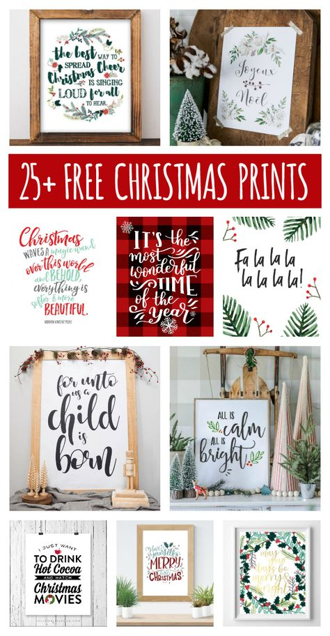 Free Christmas Printables That'll Look Great In Your Home