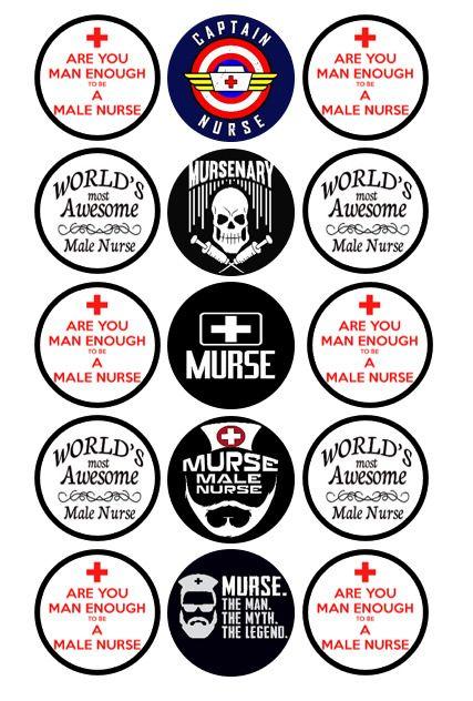 Male Nurse Murse Bottle Cap Images Set Of 15 Homemadedigitally In 2020 Bottle Cap Images Male Nurse Murse