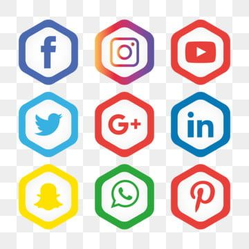 Social Media Icons Set Logo Vector Illustrator Social Icons Logo Icons Media Icons Png And Vector With Transparent Background For Free Download Social Media Icons Vector Logo Media Icon