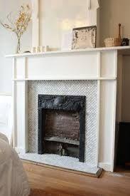 hexagon tile fireplace google search - Steinplatte Kamin Surround