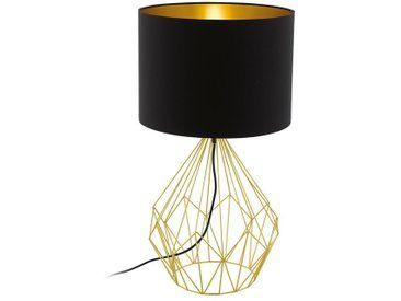 Bosco Retro Tischlampe Im Vintage Look Messing Schwarz Lampe Tischlampen Lampen