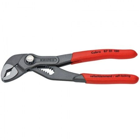 Knipex 87 01 150 6 Cobra Hightech Water Pump Grey Atramentized Pliers Plastic Coating Pumps Water