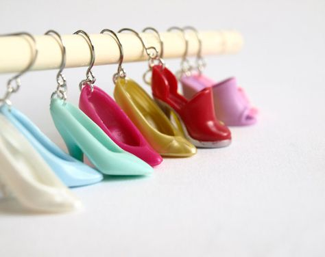 Barbie earrings white pumps upcycled vintage by KarolinfelixDream