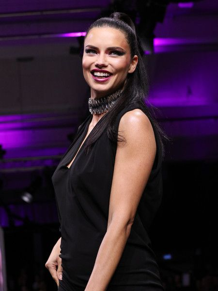 Adriana Lima walks the runway during the Maybelline Show 'Urban Catwalk - Faces of New York' at Vollgutlager.