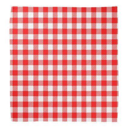 Red Gingham Picnic Tablecloth Print Bandana Zazzle Com Bandana Print Red Gingham Picnic Tablecloth
