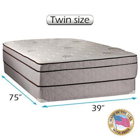 Fifth Ave Plush Foam Encased Eurotop Pillow Top Mattress And Box