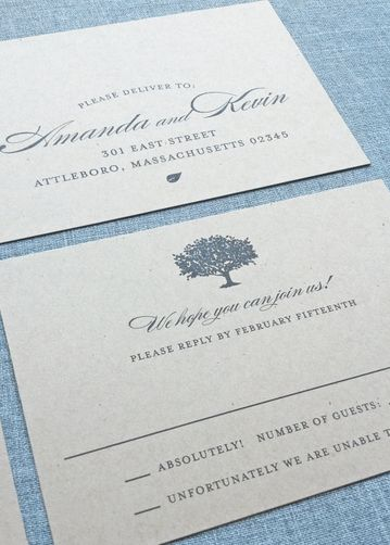 elegant tree inspired invitation. So charming! by Cricket Printing