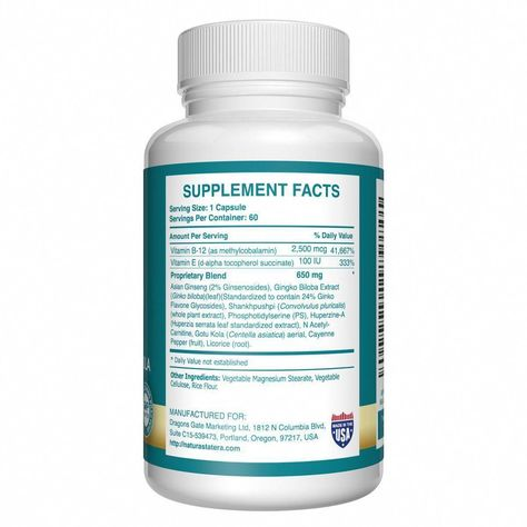 Amazon Com Cerebro Opti Vitamin B12 Brain Supplement Nootropics