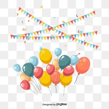 Vector Bunting And Balloons Party Decoration Bunting Clipart