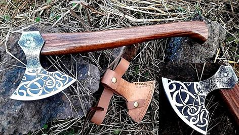 MDM TACTICAL ENGRAVE VINTAGE BREADED HATCHED COMBAT VIKING TOMAHAWK THROWING AXE