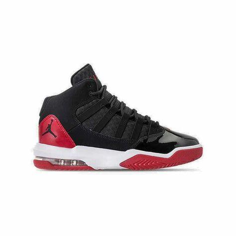 1a536e4f31dd28 eBay  Sponsored Boys  Grade School Air Jordan Max Aura Basketball Shoes  White Black AQ9214 006