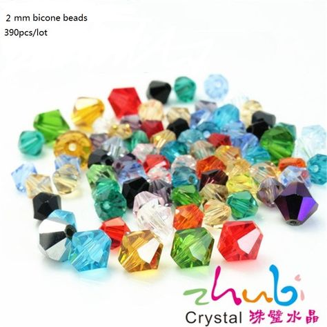 Wholesale 3//4//6//8mm Faceted Glass Crystal Bicone Loose Spacer Beads DIY Jewelry