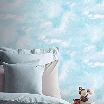 Diamond Galaxy Blue Textured Vinyl Wallpaper Glitter Sparkly Clouds Arthouse Amazon Co Uk Diy To Blue Bedroom Decor Cloud Wallpaper Bedroom Cloud Wallpaper