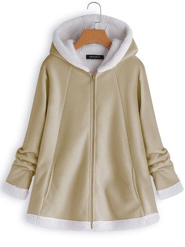 Womens 12-24 New Baby Pink Fleece Duffle Style Hooded Coat Long Jacket Ladies