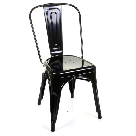 Tolix Style Chair Black Chair Tolix Metal Chairs
