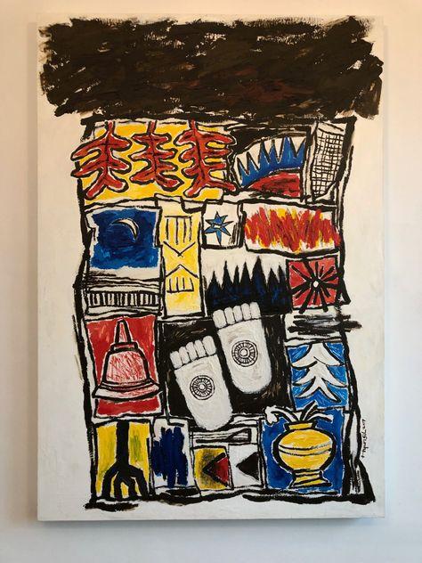 보로부두르에서-불멸, 80x117cm art by hyunsil Kim     e-mail:hyunsilkim@naver.com