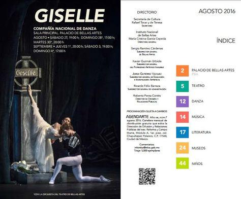 Cartelera DF: Agenda cultural de Bellas Artes para agosto de 201...
