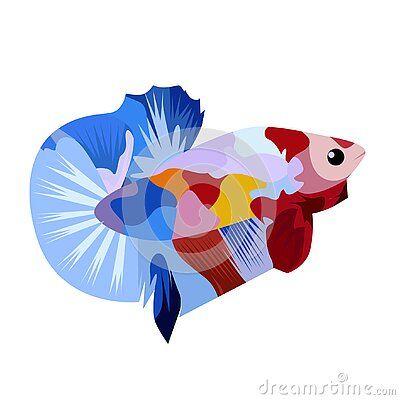 Betta Fish Multy Logo Vector Art Design Illustration Ikan Cupang Ikan Wallpaper Ponsel