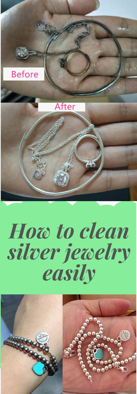 how to clean silver jewelry easily
