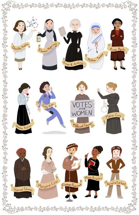 Print of famous women in history: Image is inches on glossy medium weight paper Print comes signed. Colors will vary slightly due to calibration differences in monitors. Good Woman, Great Women, Amazing Women, Feminist Art, Feminist Icons, Intersectional Feminism, Badass Women, Rosa Parks, Harriet Tubman