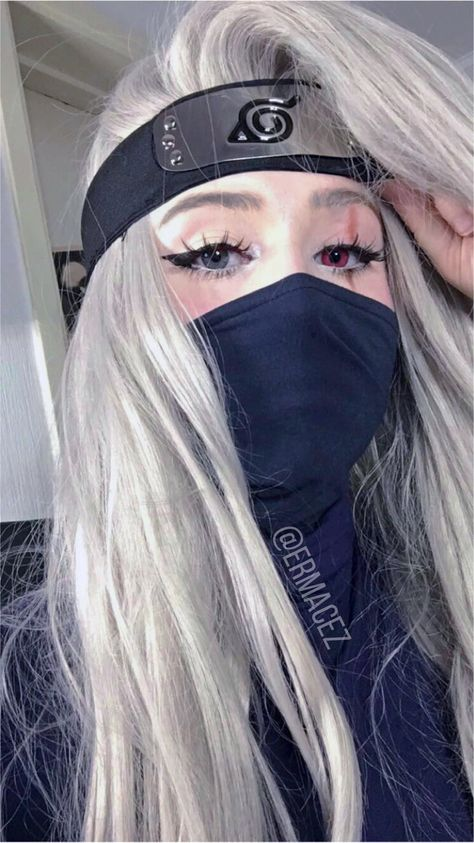 Female Kakashi Cosplay Test ✨ - Female kakashi cosplay from naruto shippuden, I'll be doing more like Sakura, Hinata, Rock Lee an - Naruto Cosplay, Cosplay Anime, Deku Cosplay, Epic Cosplay, Cute Cosplay, Cosplay Makeup, Amazing Cosplay, Cosplay Outfits, Halloween Cosplay