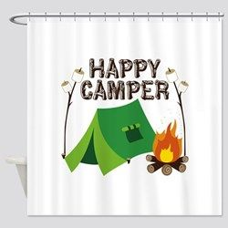 Happy Camper Shower Curtain Shower Curtain Shower Curtains